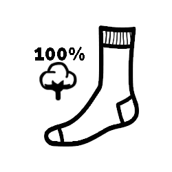 100% pamut zokni