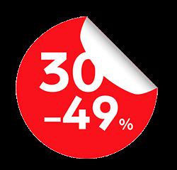 30-49%