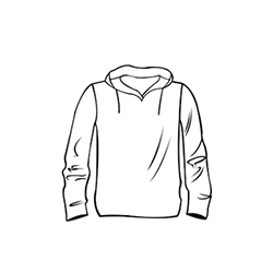 Kapucnis póló