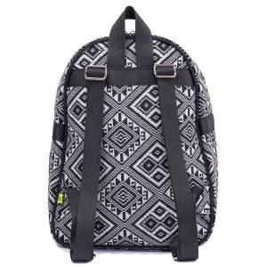 Budmil azték mintás mini hátizsák - fekete