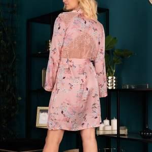 Livia Corsetti Marnivma szatén virágmintás kimonó köntös