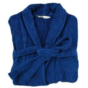 Beardream BD6003 unisex pamut fürdőköntös - Kék