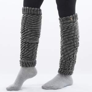 Dressa Aerobic női kötött lábszármelegítő - középszürke