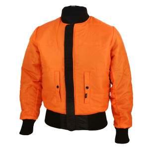 Dressa Basic kifordítható bomber dzseki - fekete-narancs