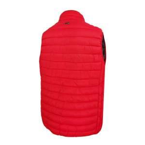 Dressa Basic könnyű tokba hajtható steppelt cipzáros férfi mellény - piros