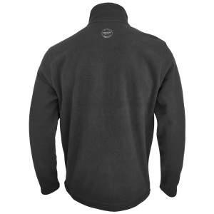 Dressa Basic Thermo cipzáros hosszú ujjú férfi polár pulóver - sötétszürke