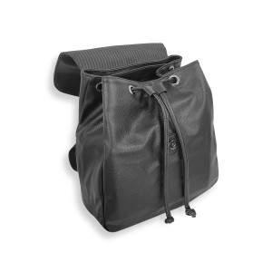 Dressa Casual elegáns női műbőr mini hátizsák - fekete