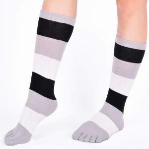Dressa csíkos pamut lábtyű - fehér és fekete