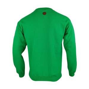 Dressa Forest környakú pamut pulóver - zöld