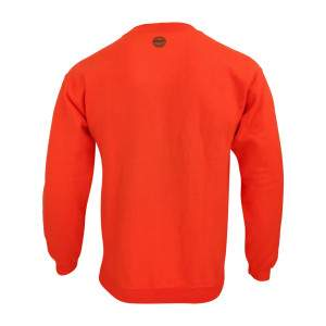 Dressa Forest környakú pamut pulóver - narancssárga