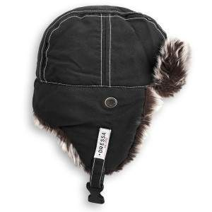 Dressa fülmelegítős szőrmés téli usánka sapka - fekete