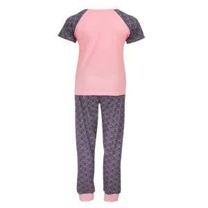 Dressa Home Life macis rövid ujjú hosszú nadrágos női pizsama - rózsaszín