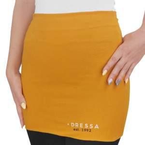Dressa hosszú női derékmelegítő - mustársárga