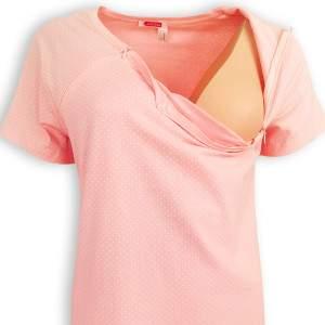 Dressa Maternity pöttyös cipzáros kismama szoptatós hálóing - rózsaszín