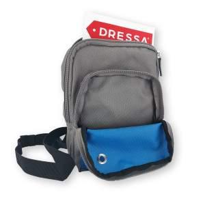 Dressa övtáska/oldaltáska - szürke-kék