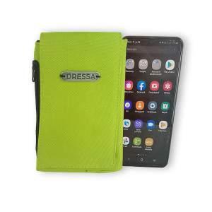 Dressa Phone nyakba akasztható övre fűzhető univerzális telefontok - citromzöld
