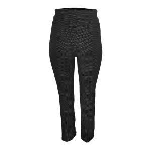 Dressa pöttyös mintás nagyméretű leggings - fekete