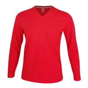 Dressa Premium hosszú ujjú V nyakú férfi pamut póló