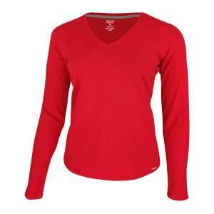 Dressa Premium hosszú ujjú V nyakú női pamut póló