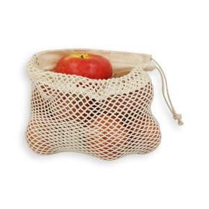 Dressa Shopping hálós összehúzható pamut textil szütyő - nagy