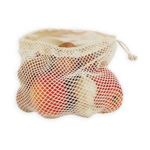 Dressa Shopping hálós összehúzható pamut textiltáska - kicsi