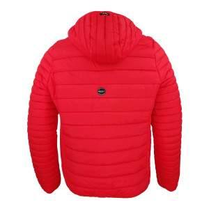 Dressa Sport steppelt férfi könnyű tokba hajtható kapucnis dzseki - piros