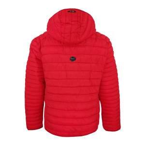 Dressa Sport steppelt női könnyű tokba hajtható kapucnis dzseki - piros