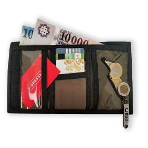 Dressa tépőzáras pénztárca - katonazöld