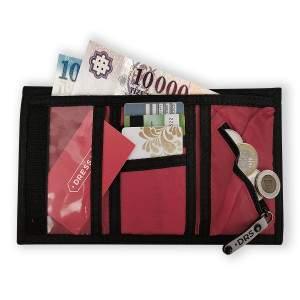 Dressa tépőzáras pénztárca - piros