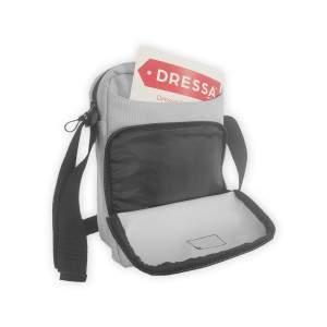 Dressa Travel tablet tartós mini válltáska - világosszürke
