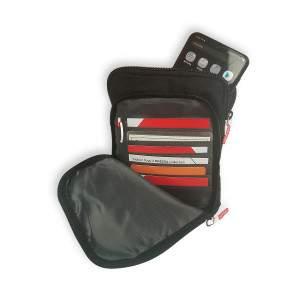 Dressa Travel vállra akasztható irattartós pénztárca - fekete
