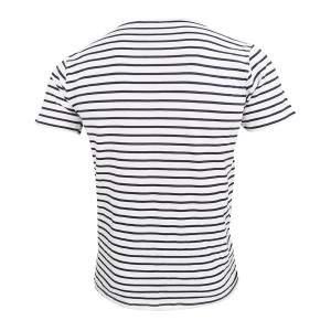 Dressa Vintage csíkos rövid ujjú férfi pamut póló - fehér