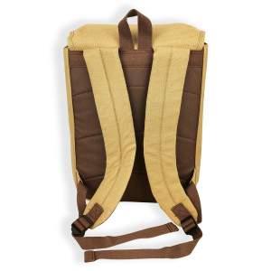 Dressa Vintage laptop vászon hátizsák - karamell