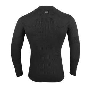 Dressa Work hosszú ujjú varrás nélküli férfi munkaruha aláöltözet póló - fekete