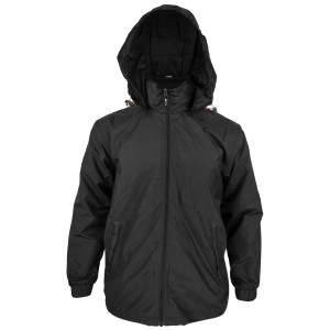 Dressa Work kapucnis hálós bélelt esőkabát széldzseki - fekete