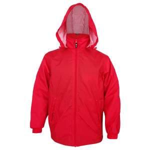 Dressa Work kapucnis hálós bélelt esőkabát széldzseki - piros
