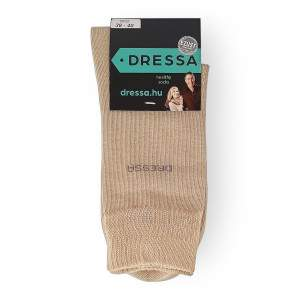 Dressa ezüstszálas gumi nélküli zokni - drapp