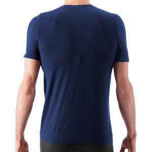 Issimo 251 férfi V nyakú microfibra póló - sötétkék
