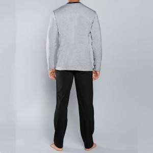 Gabor férfi kétrészes pamut pizsama - szürke