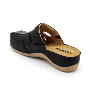 Leon 925 női bőr klumpa - fekete