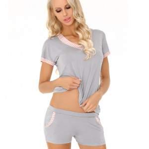 Livia Corsetti Harnette v-nyakú női rövidnadrágos kétrészes pizsama