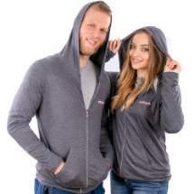 Dressa Collection cipzáros kapucnis póló - sötétszürke