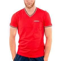 Dressa Collection V nyakú férfi piké póló - piros