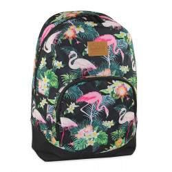Budmil flamingó mintás hátizsák lányoknak - fekete