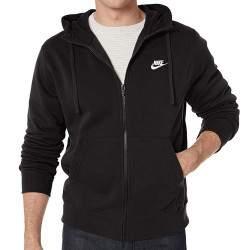 Nike M NSW CLUB HOODIE FZ BB férfi kapucnis melegítő felső - fekete