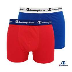 Champion Essential férfi pamut boxer csomag - Red-Blue - 2 db