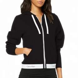 Calvin Klein cipzáros kapucnis női pulóver - fekete