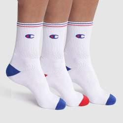 Champion Classic Crew férfi zokni - fehér - 3 pár