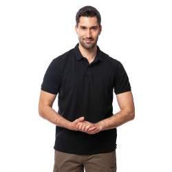 Heavy Tools Dean férfi galléros rövid ujjú póló - fekete
