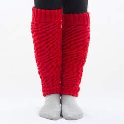 Dressa Aerobic női kötött lábszármelegítő - piros